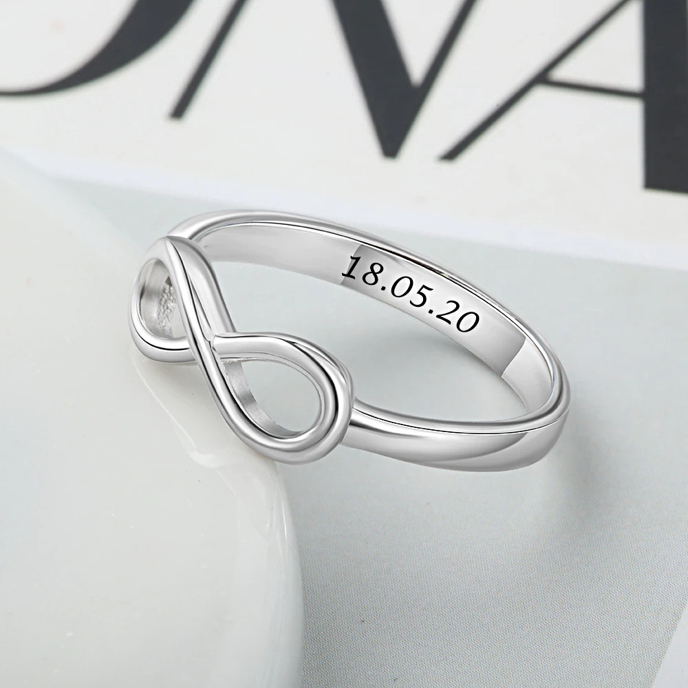 Ring Silver Color Custom Name  - 1mrk.com