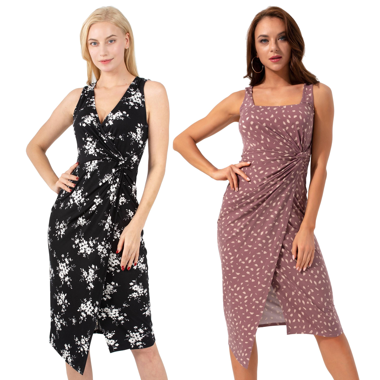 Casual Dress Square Neck Sleeveless Summer - 1MRK.COM