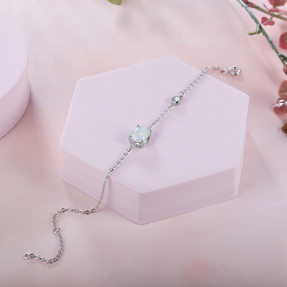 Silver Opal Bracelets Adjustable - 1MRK.COM