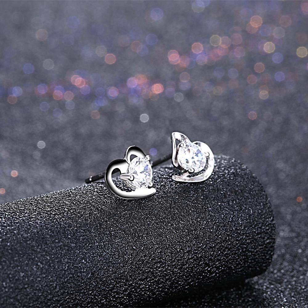 Jewelry Zirconia Earrings Heart - 1MRK.COM