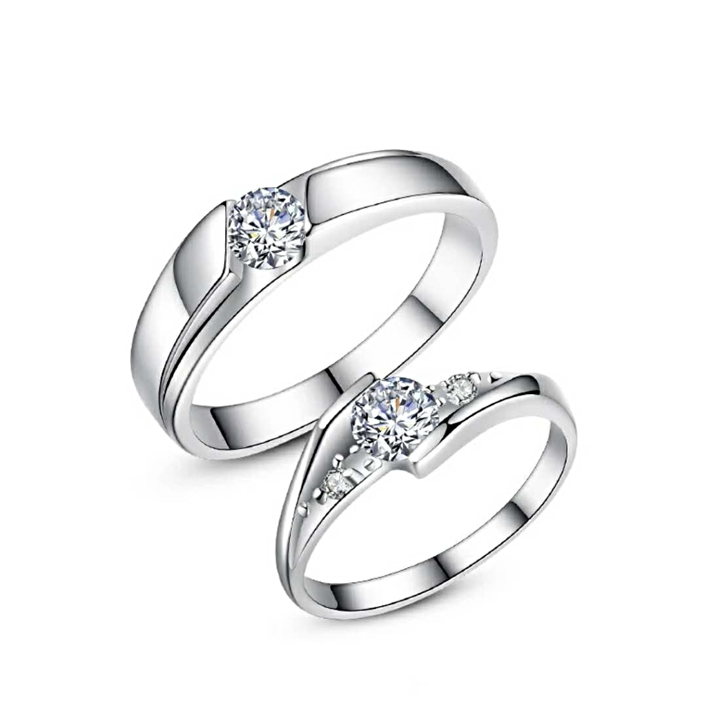 Silver Color couples Ring-opening female fashion - 1MRK.COM