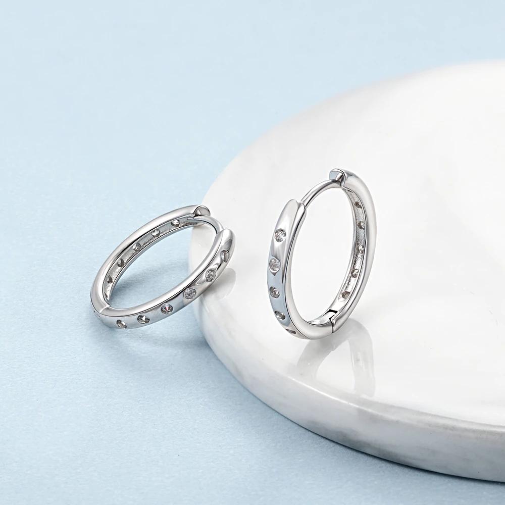 Silver Color Women's Hoop Earrings  - 1MRK.COM