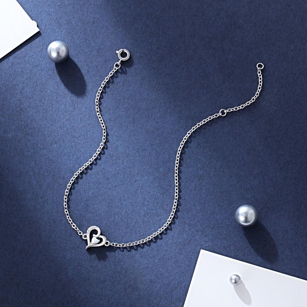 Heart Bracelets for Women Cute  Zircon -  1MRK.COM