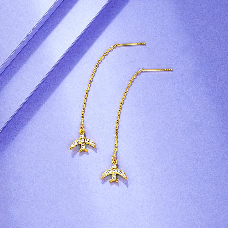 24k Drop Earrings for Women Simple Cute  - 1MRK.COM