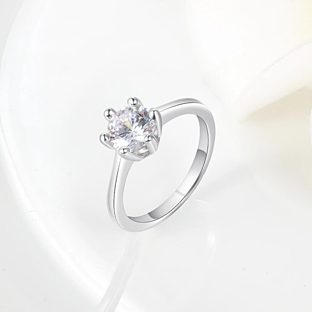 Silver Women  Cubic Zircon Finger Rings - 1MRK.COM