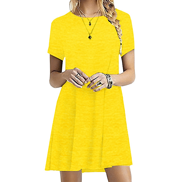 Casual O-Neck Party Summer Dress Short-Sleeve - 1MRK.COM