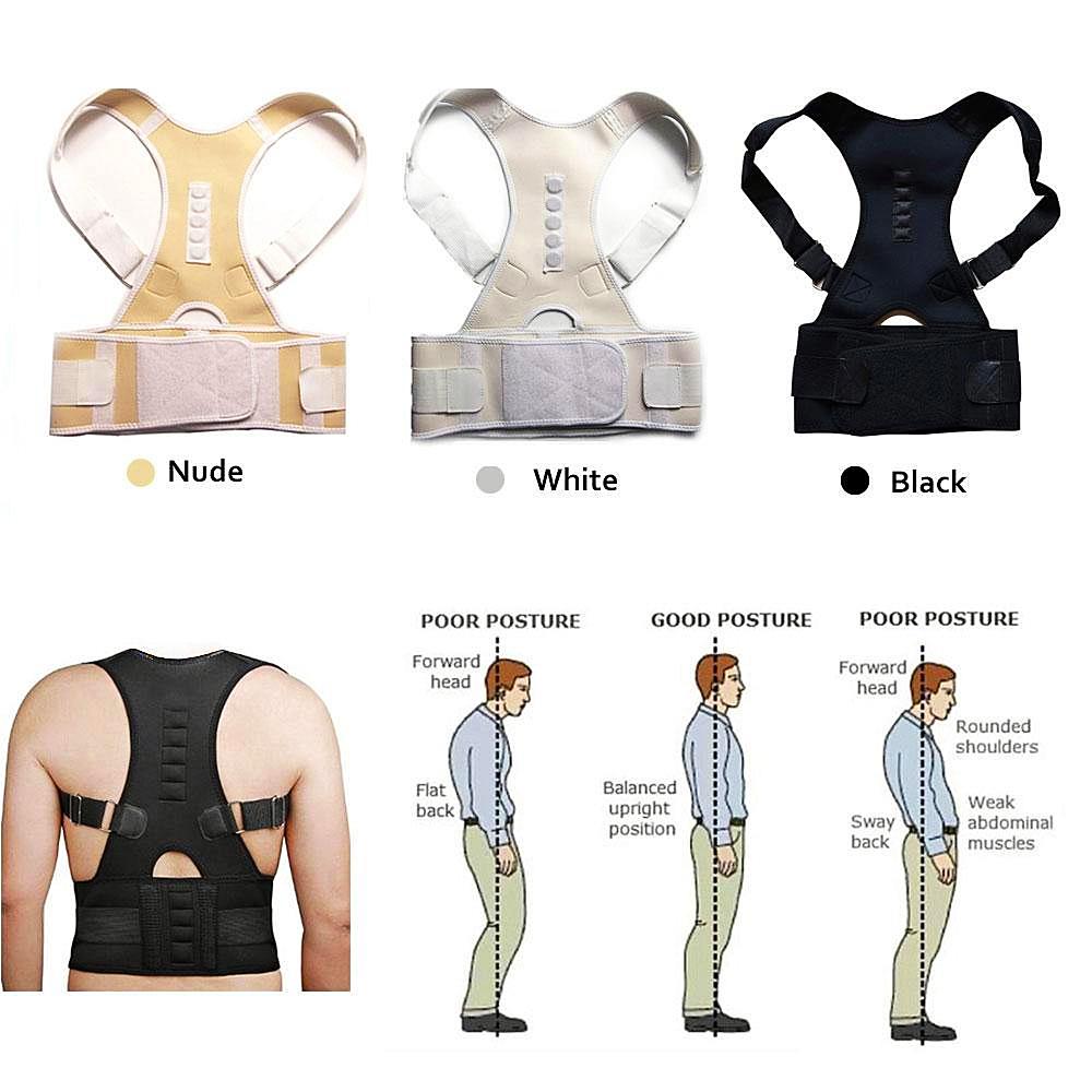 Elastic Adjustable Cotton Back Support = 1MRK.COM