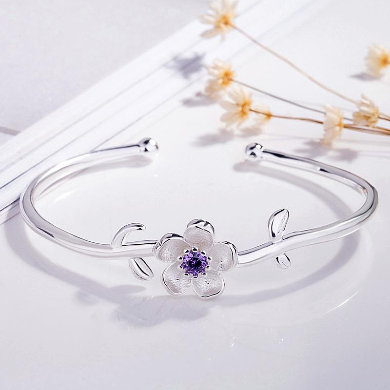 2-Color Peach Blossom Bracelet High-Quality Women Jewelry - 1MRK.COM