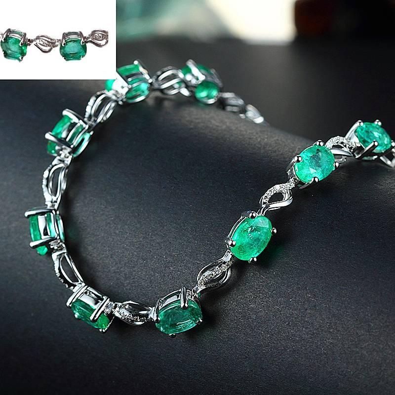 Round Emerald Bracelets for Women - 1MRK.COM