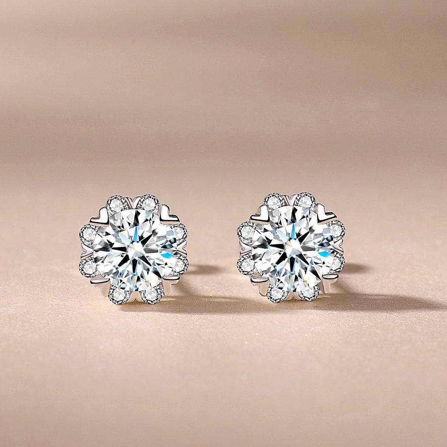 Earring1.5 Carat Jewelry Silver Color  - 1MRK.COM