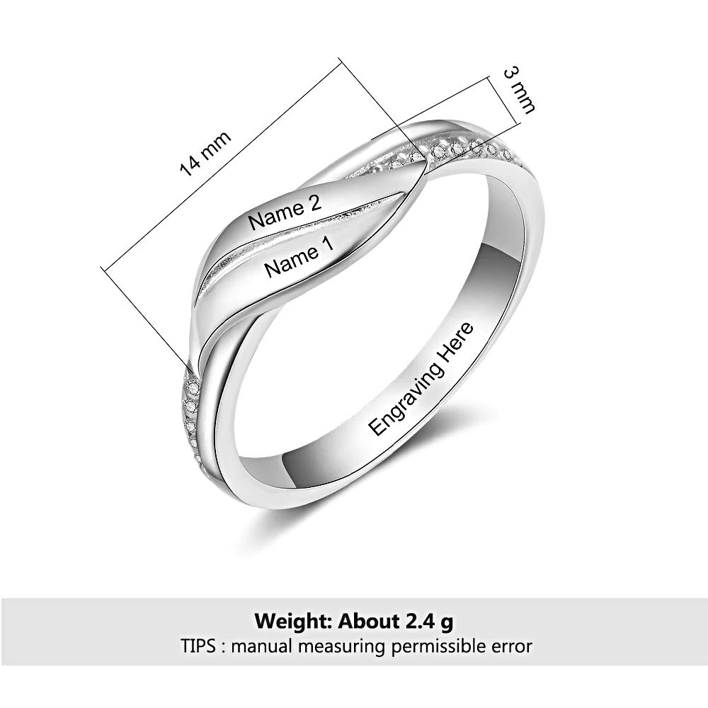 Custom Name Ring Finger Engraved   - 1MRK.COM