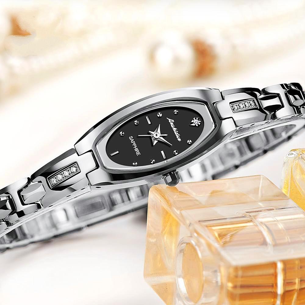 WaterProof Women WristWatch Stainless Steel Band Hand Clock -1mrk.com