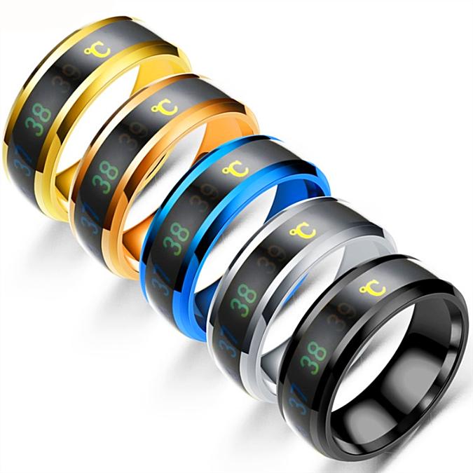 high technology Jewelry Temperature Measuring Smart Ring Titanium -1MRK.COM