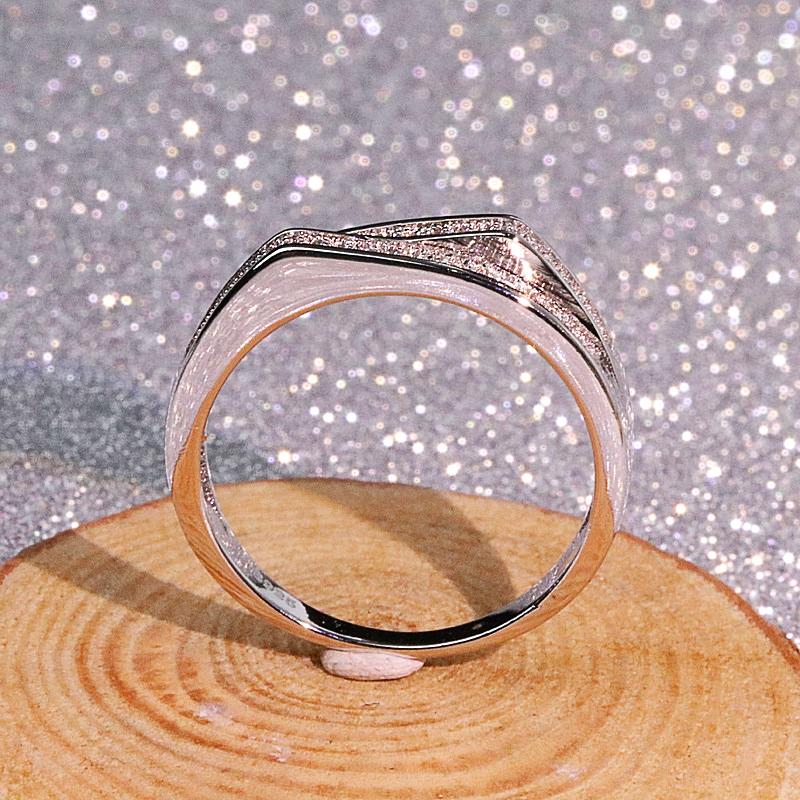 Silver color VS1 Ring Women   Carats Topaz  - 1MRK.COM