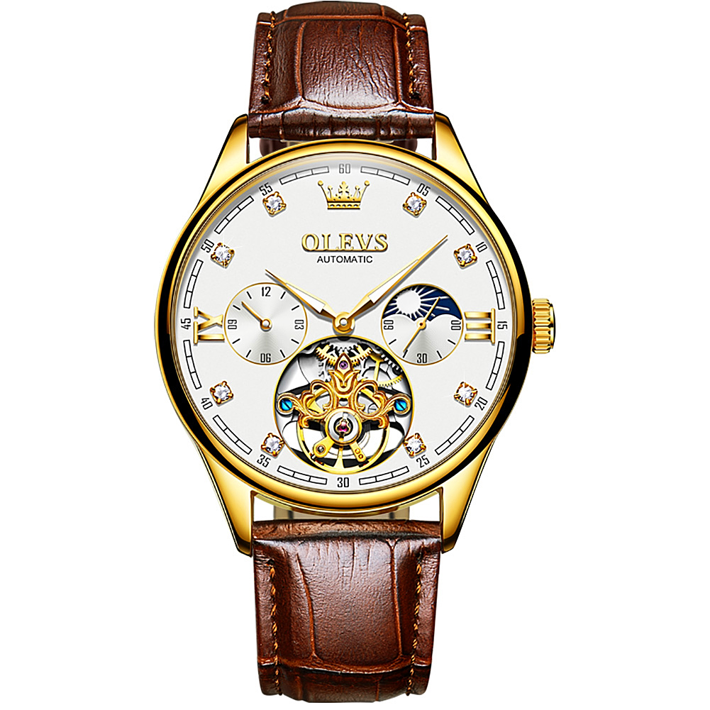Men's Automatic Mechanical Watch luxury business Moon  - 1MRK.COM