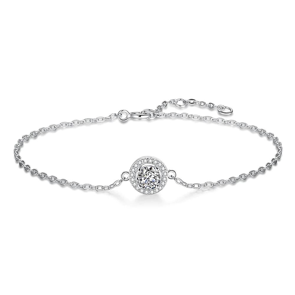 5mm Silver Moissanite Bracelet Gemstone  - 1MRK.COM
