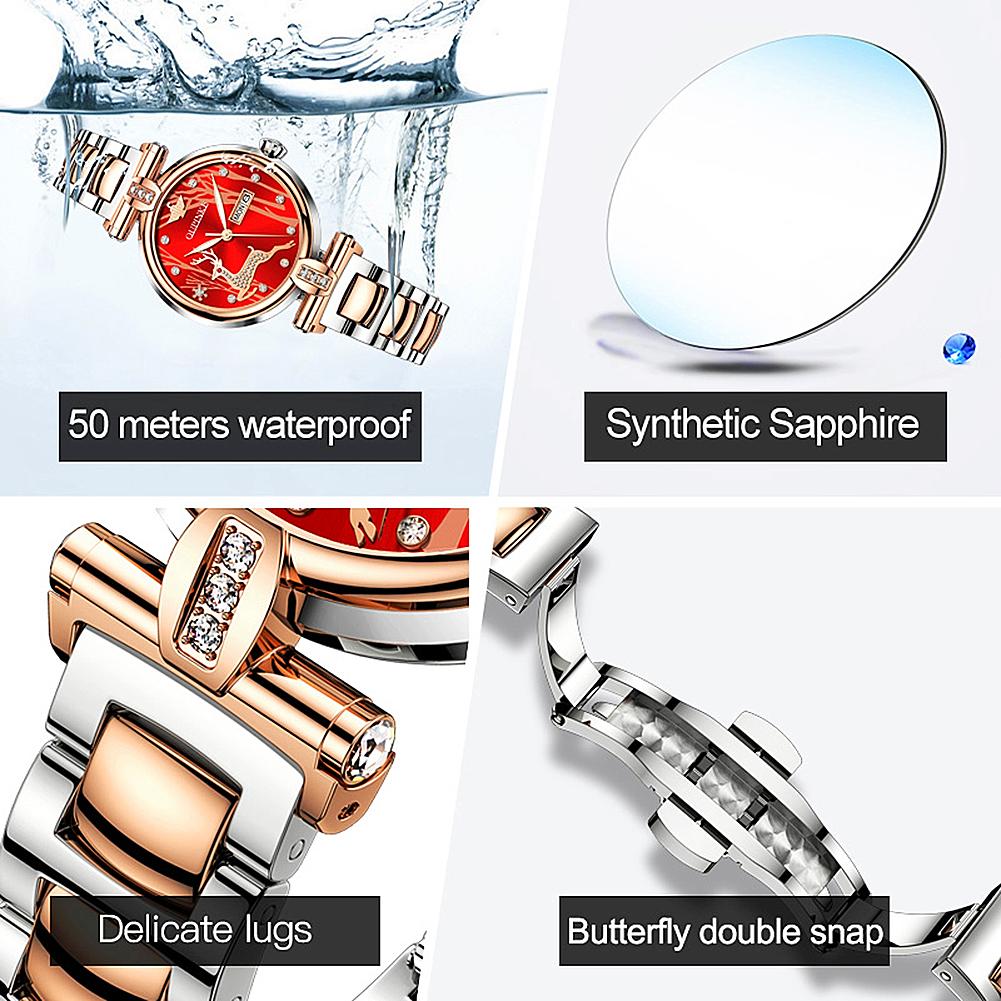 Women Watch Ceramic Sapphire Crystal Mechanical  - 1MRK.COM