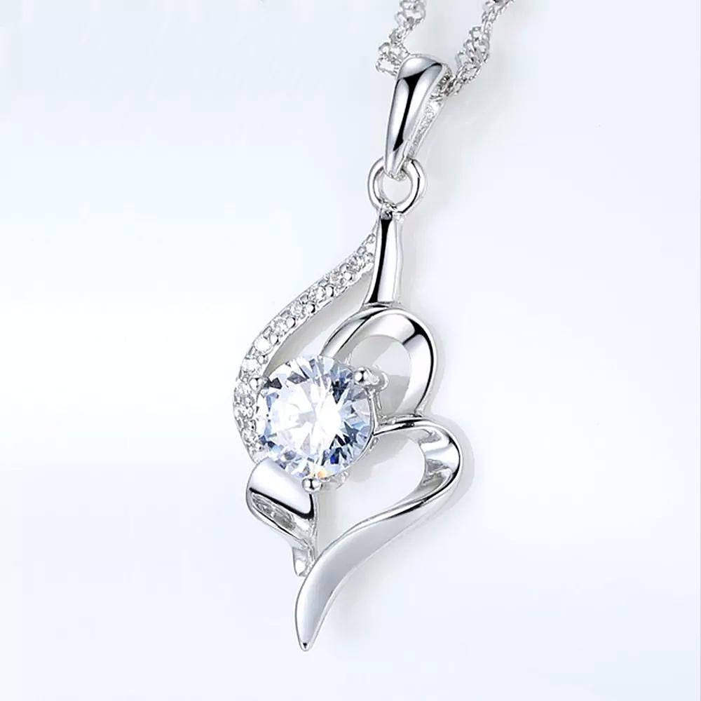 Snake Chain Simple Diamond Necklace for Women - 1MRK.COM