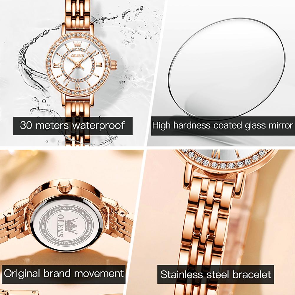 Girl gifts Rose Gold Beautiful Luxurious Waterproof watch