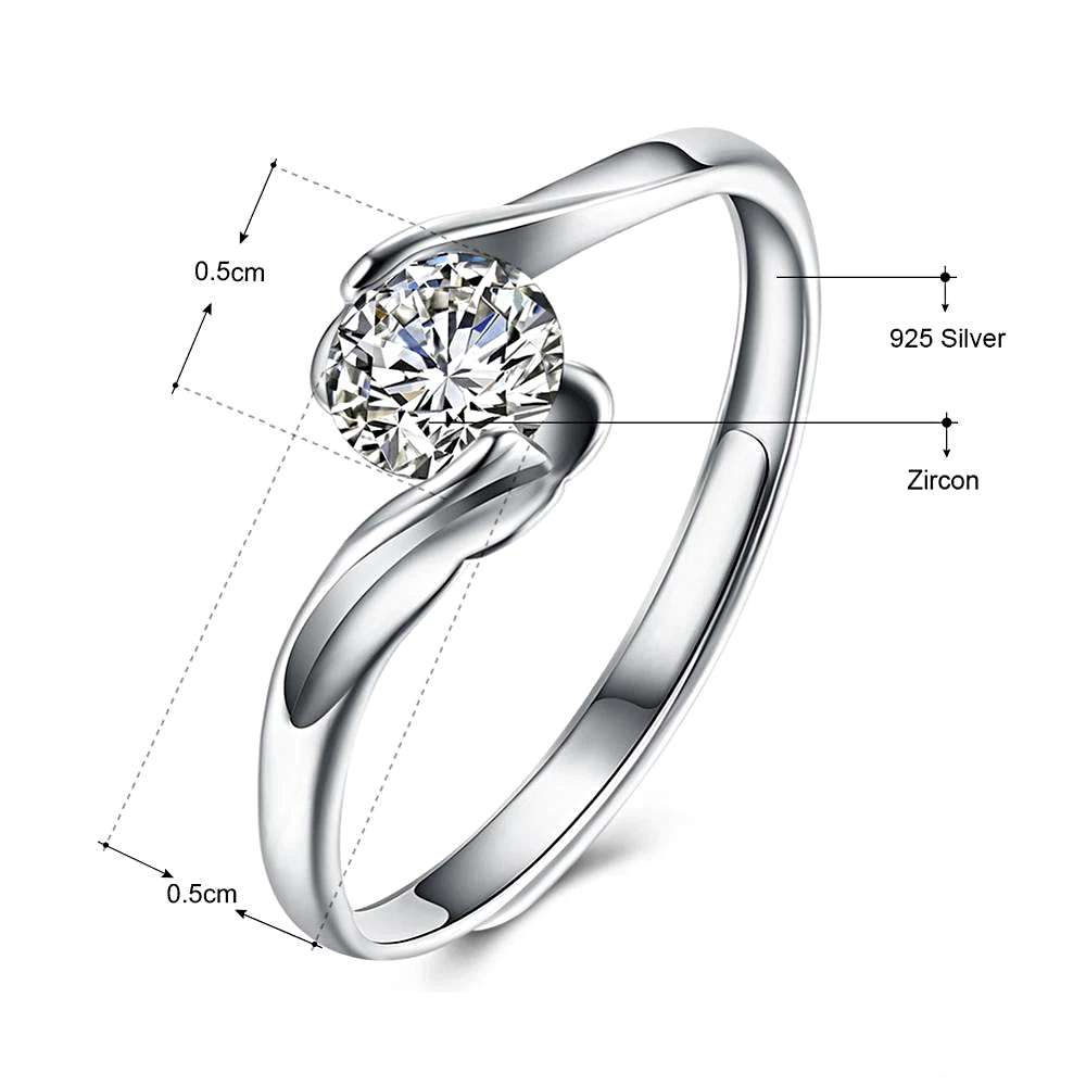 Engagement Ring Silver Jewelry  - 1MRK.COM
