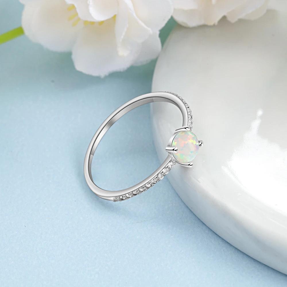 Silver Opal Rings Crystal Finger - 1MRK.COM