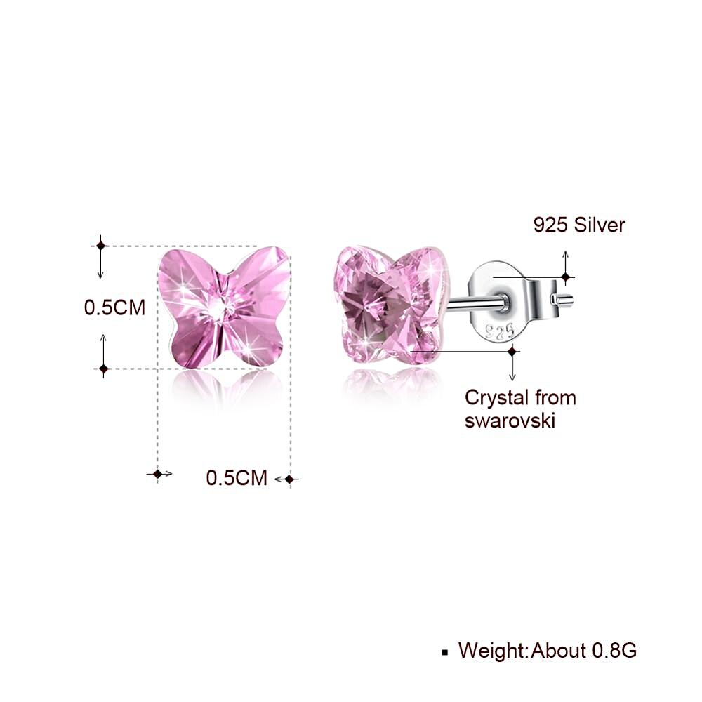 Butterfly Stud Earrings Sweet Colorful Korean - MRK.COM