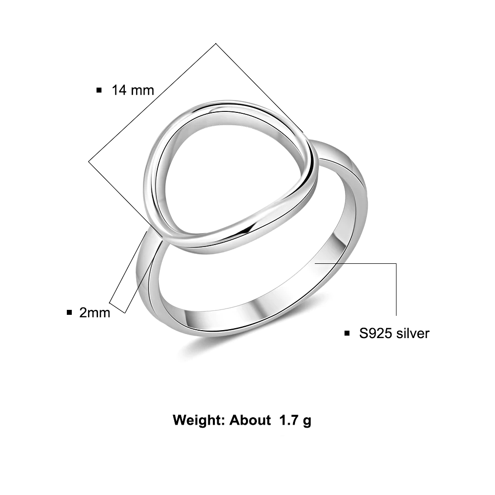 Ring Fine  Minimalist Open Circle - 1MRK.COM
