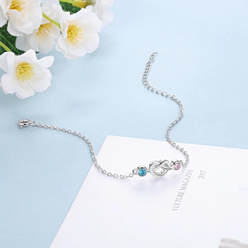 Bracelets Blue Pink Stone Knot Adjustable  - 1MRK.COM