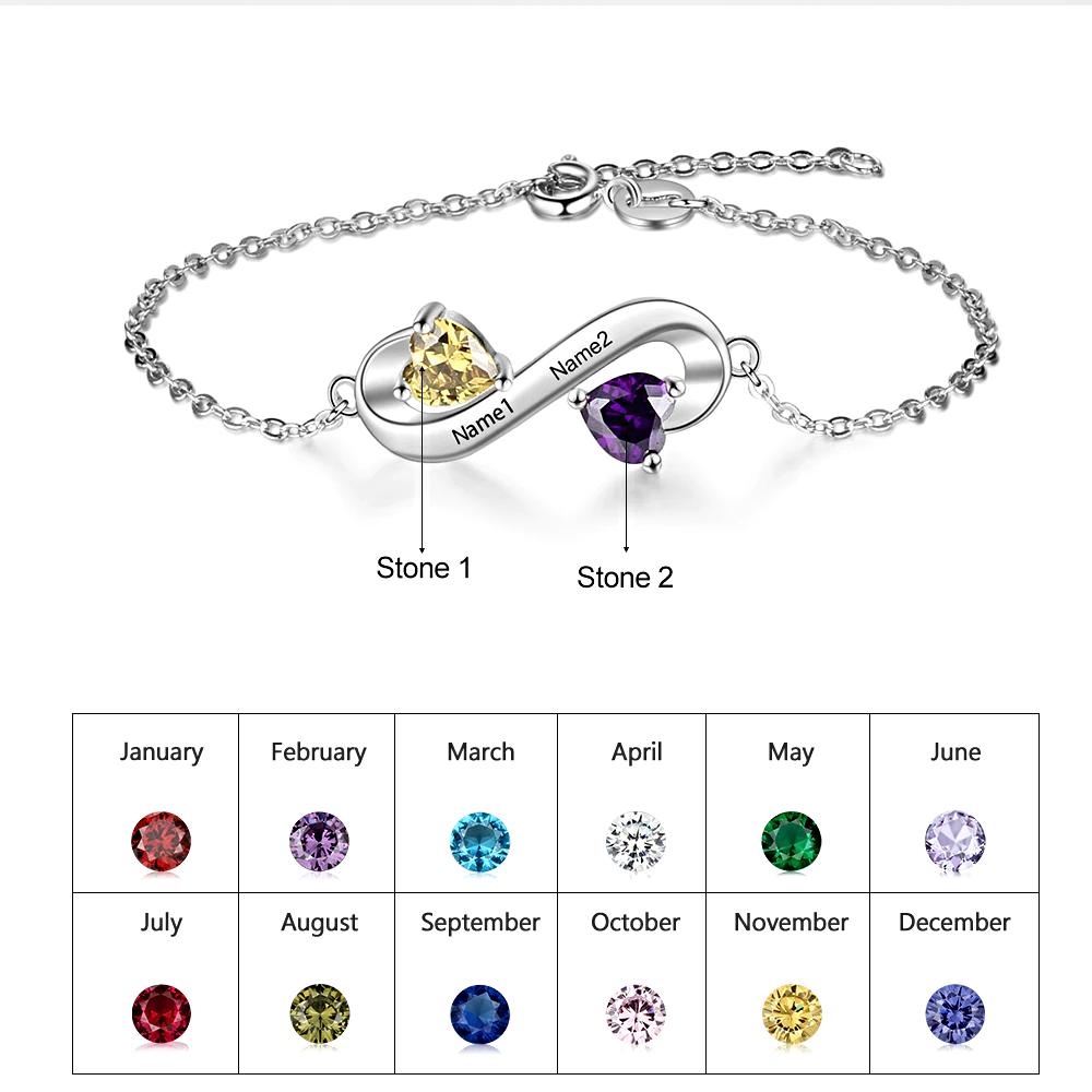Silver Color Bracelet Personalized  - 1MRK.COM