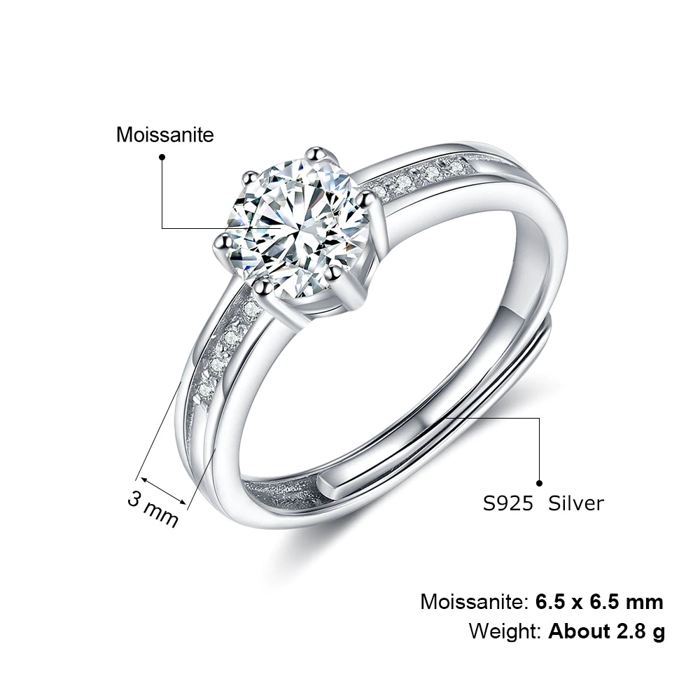 Color Moissanite Jewelry For Engagement  - 1MRK.COM