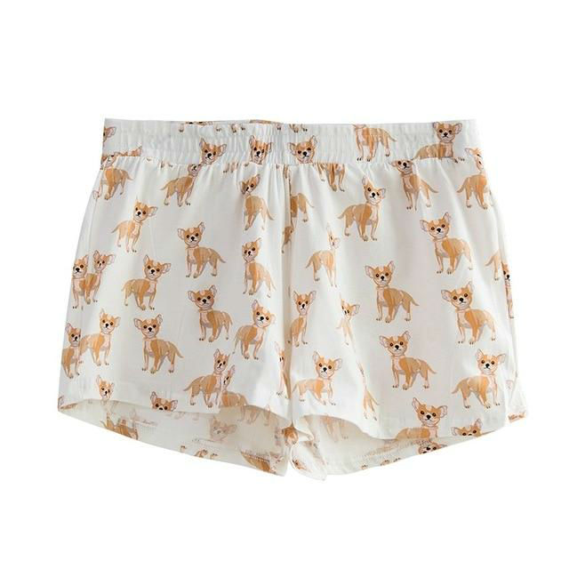 Cute-Sleep-Bottoms-Shorts-Women-Cotton-Knitted-Chihuahua-Print-Pajamas-Dog-Elastic-Waist-S-XXL-B61001 (1)