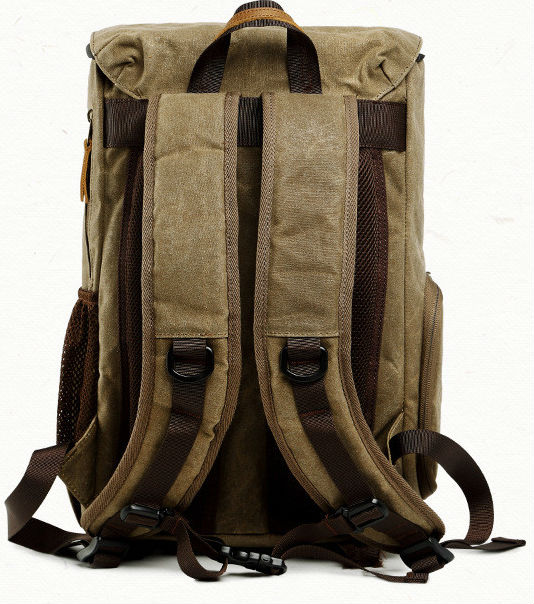 VICCKI Photography Backpack Camera Bag Professional Vintage Photography Backpack Premium Waterproof Lightweight Photography Canvas Bag Camera Protector Photography Accessory Khaki, One Size